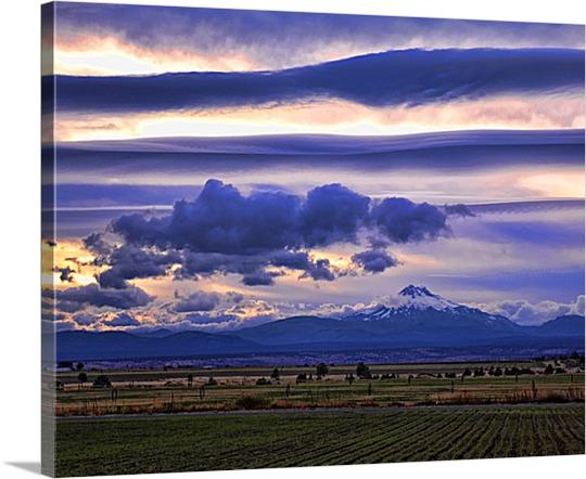 Photo of Mountain on Canvas