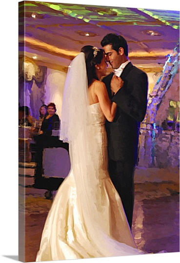 First Wedding Dance Photo on Pop Art