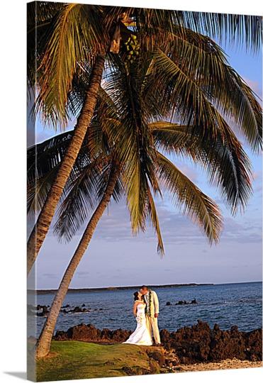 Photo to Canvas of Beach Wedding
