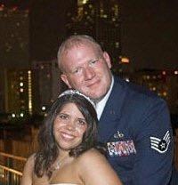 beautiful oil portrait us marine wedding
