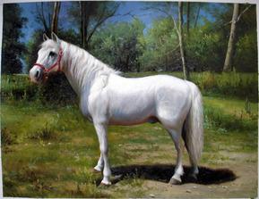 retrato al óleo de una foto del caballo