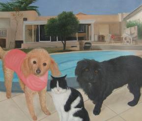 Portrait d'animaux de compagnie