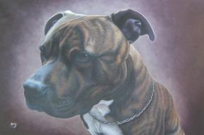 schilderij van een hond