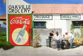 Handmade oil painting of a coca cola oakville