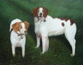 portrait de ses chiens