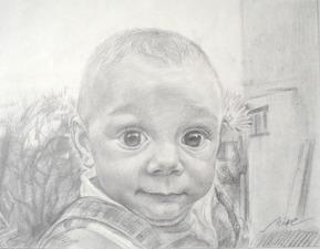 bambino ritratto a matita