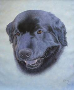 hond het schilderenhonden schilderij van foto