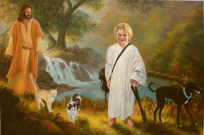 custom oil painting from picture of boy with Jesus