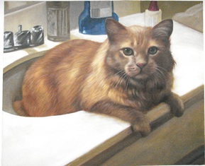 local artists near me pet painting cat in sink