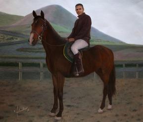 caballo como la pintura al óleo