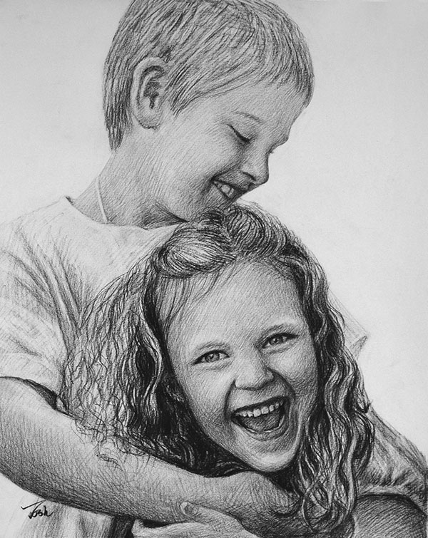 drawing of children