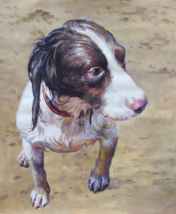 Retratos de perros sobre lienzo