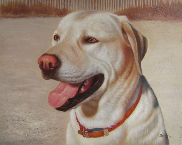 custom pet portrait oil painting labrador retriever