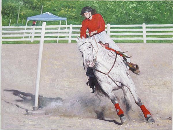 horse oil portrait painting