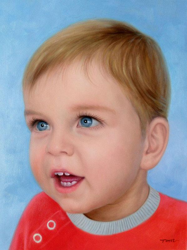 Gemälde eines kleinen Jungen