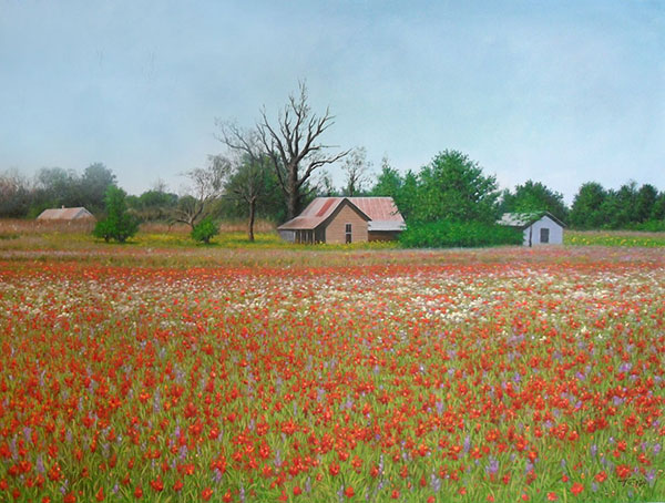 paesaggio di campagna regalo casa natale olio da fotografia