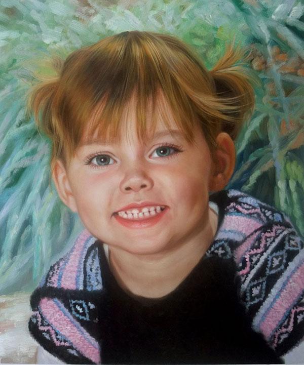 mein Kind als Ölportrait