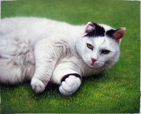 Katze als Ölportrait