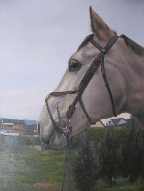 Ölgemälde von einem Pferd