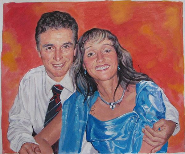 Familienfoto Pastellgemälde