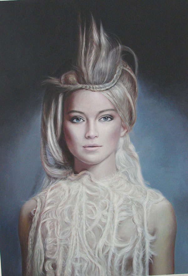 Acrylgemälde von einer Frau