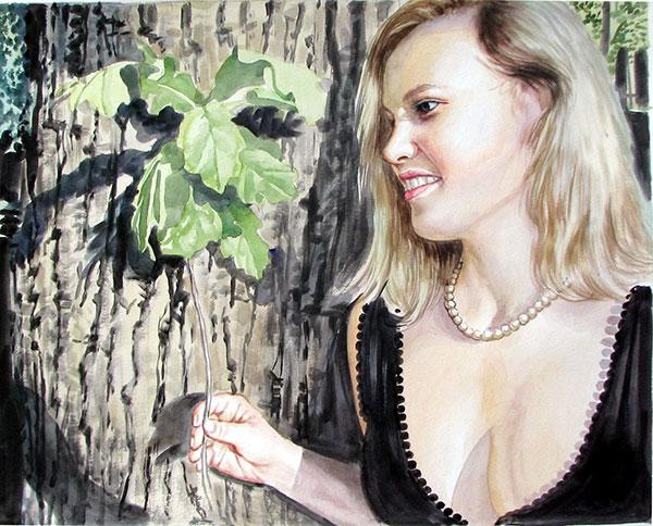 arte personalizado en acuarela, de foto a pintura