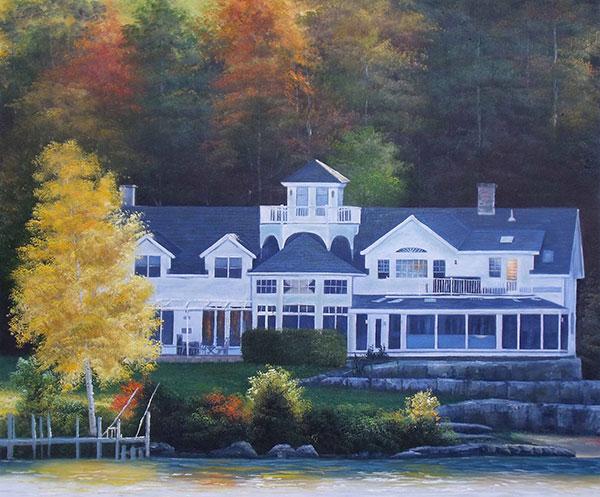 pinturas al oleo, personalizado, arte online de casas