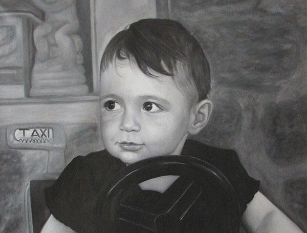Peinture acrylique d'un enfant