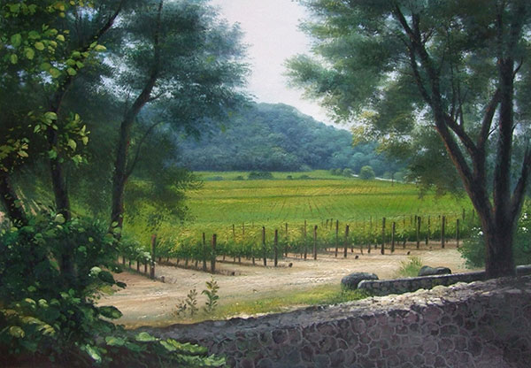 oil landscape painting by professional artist