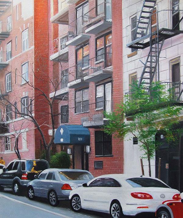 custom street painting on canvas