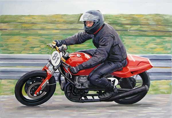Motorrad Gemälde