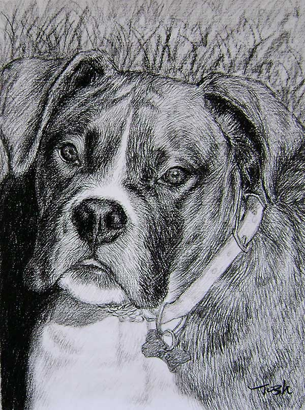 handmade dog artowrk