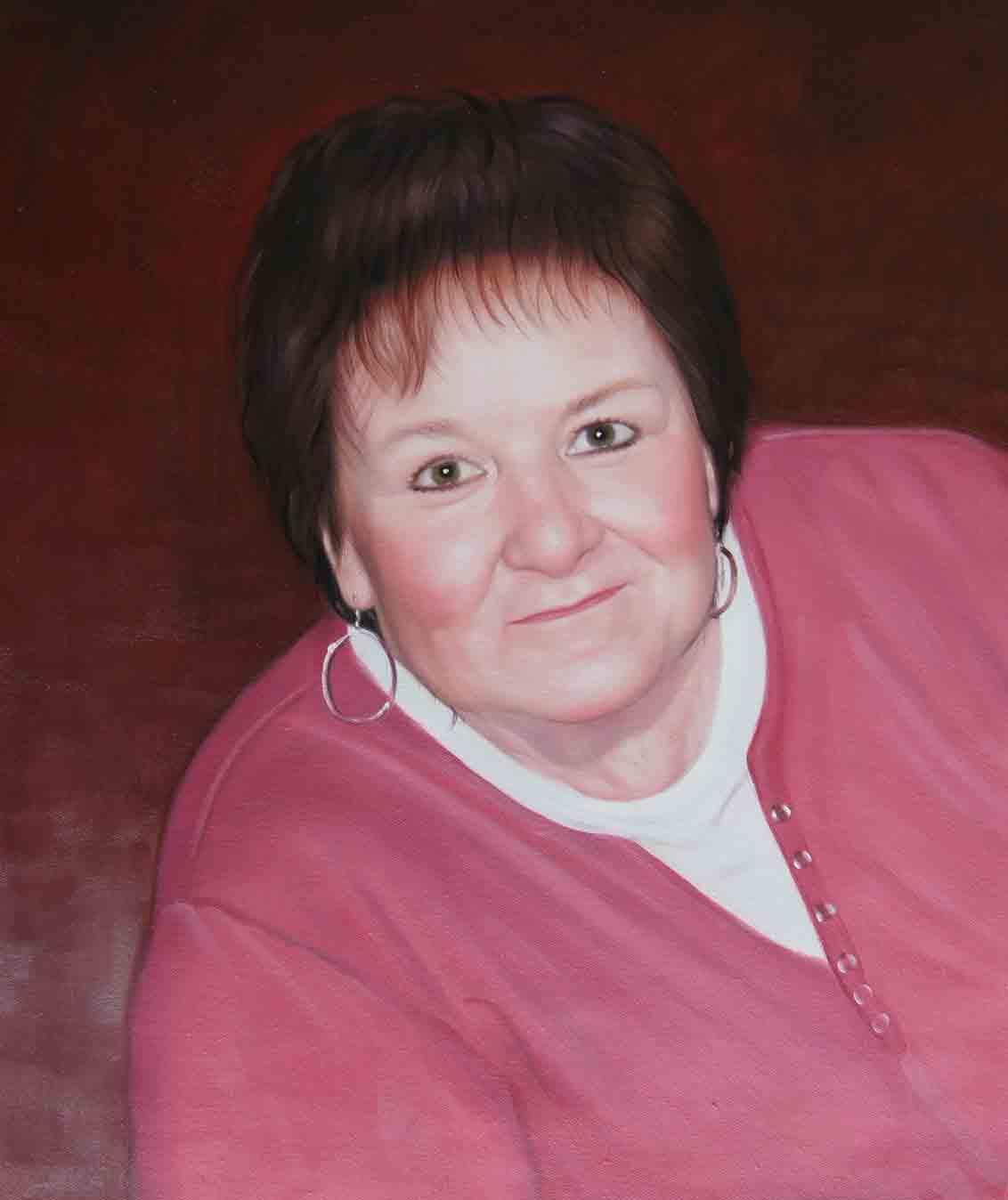 Memorial portrait of a lady