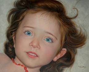 Petite fille en peinture