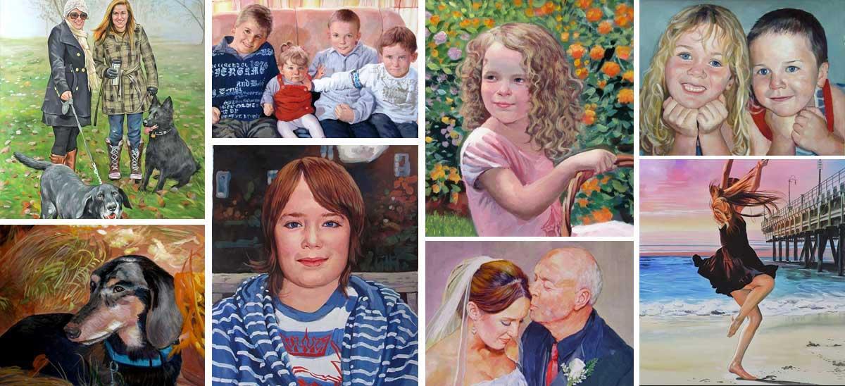 Retratos en pastel