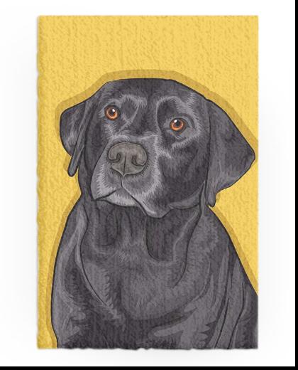 Dog Pop Art Che style