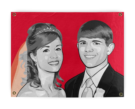 Pop Art of Young Married Couple