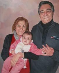 regalos autentico para la familia, arte de foto a pintura