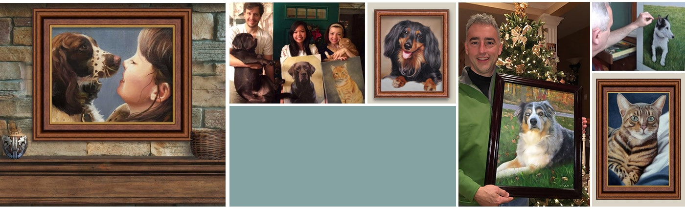 Custom Pet Paintings, 100% Hand-Painted  Paint Your Pet!