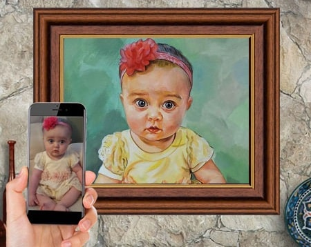 Little Cat Girl Children Kid Cute Adorable Art Painting