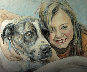 People & Pet Pencil Sketches