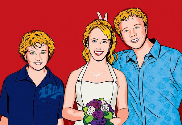 Funny Wedding Print to Pop Art Canvas