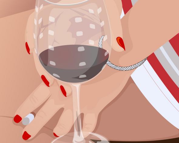 Wine Glass Canvas Pop Art