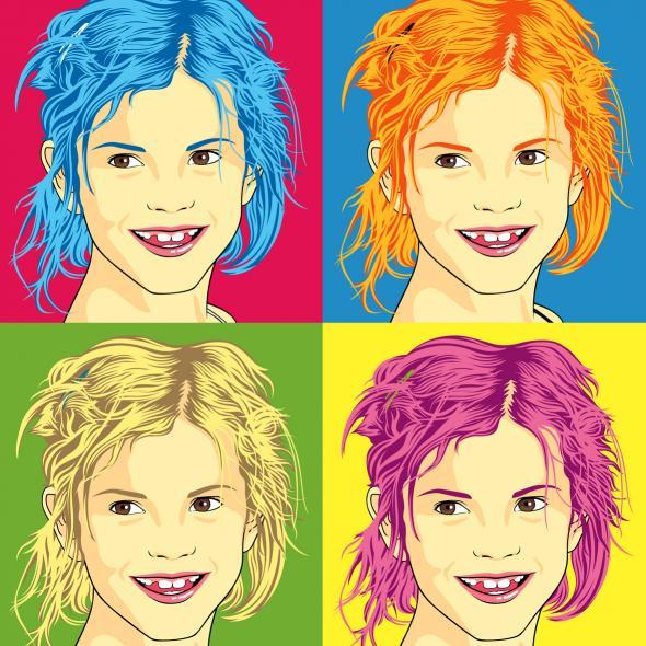Junges Mädchen als Pop Art