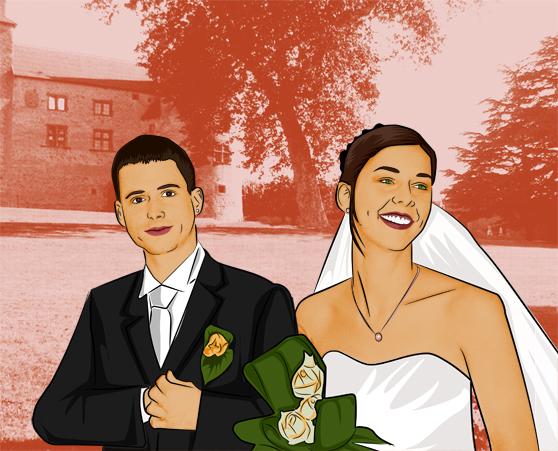 Peinture de mariage lichtenstein