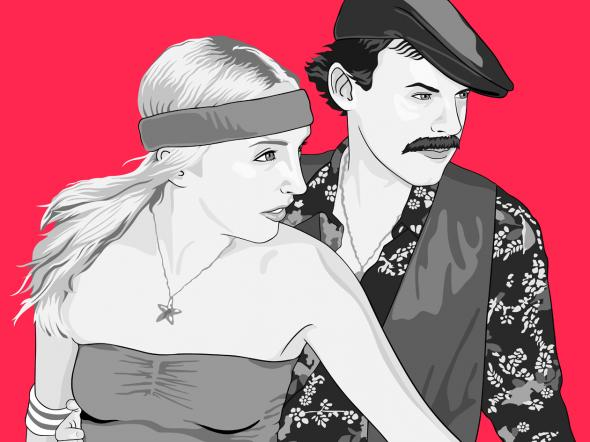 Cool Couple as Pop Art Che image