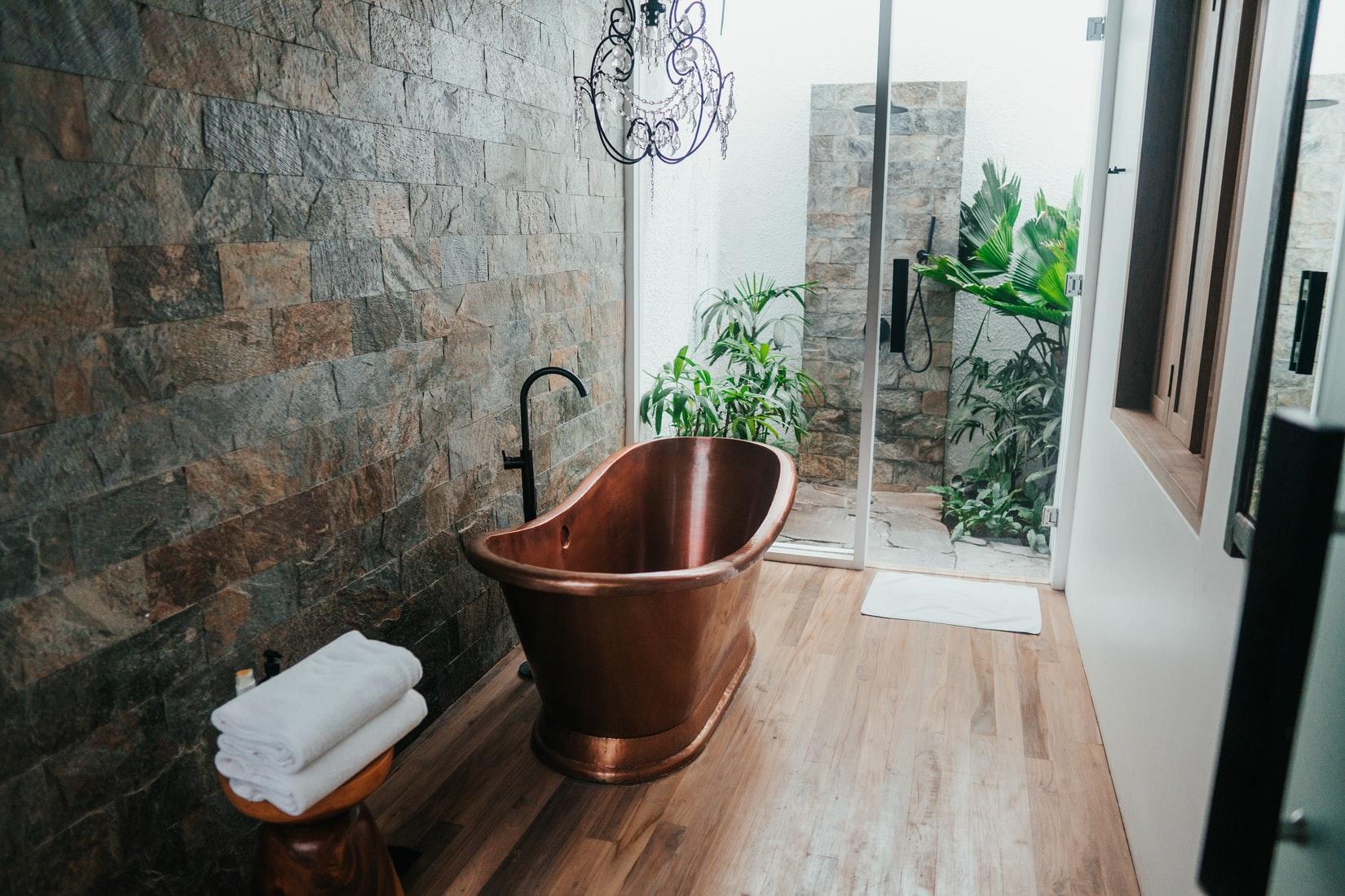 Bamboo flooring for bathroom