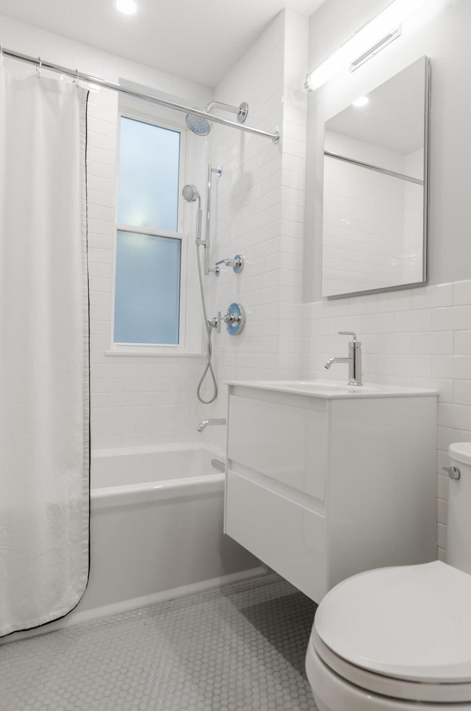 Non-slip rubber flooring for bathrooms