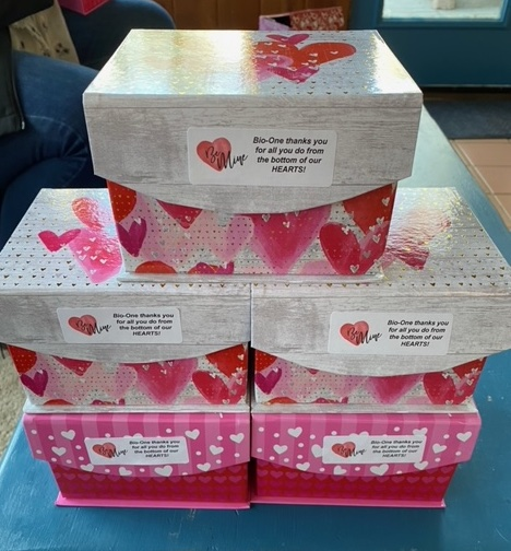 Bio-One Thank You Boxes for Valentine's Day