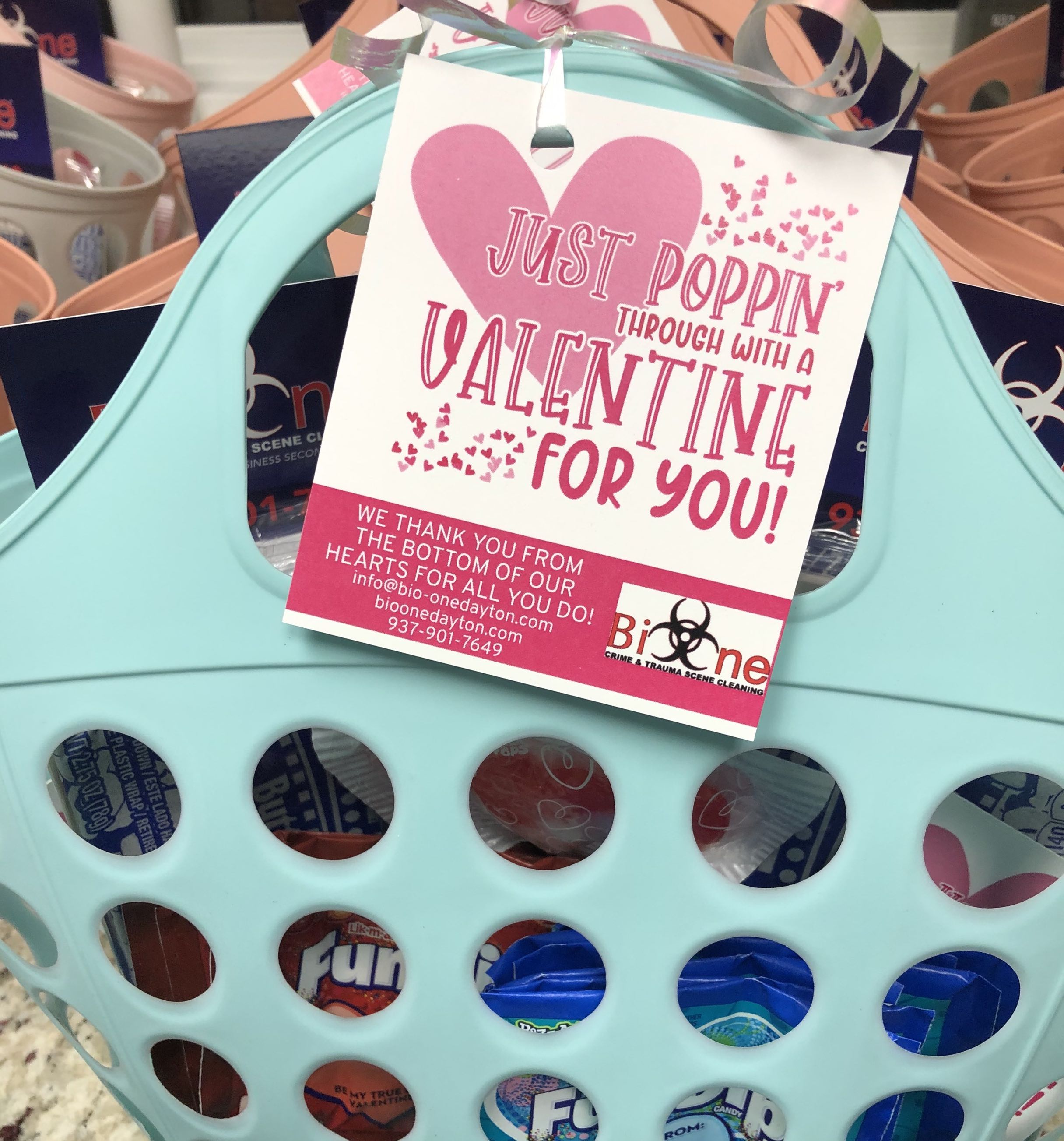 Bio-One Valentine's Day Gift Bags for Police Departments